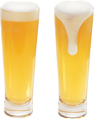 2 cone beer on glass free png download