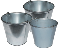 3 typeds silver bucket free png download