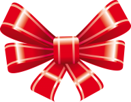 4 petal red ribbon free clipart download