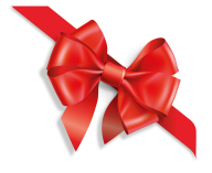 4 petalled red ribbon free clipart download