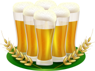 6 beer on plate free clipart download