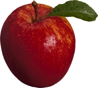Apple png with rain drops