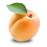 Apricot With Single Leaf Png