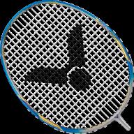 Badminton png image blue