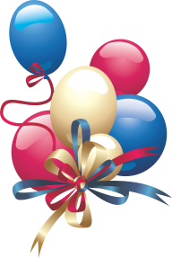 Balloons png with Ribbon Knotted