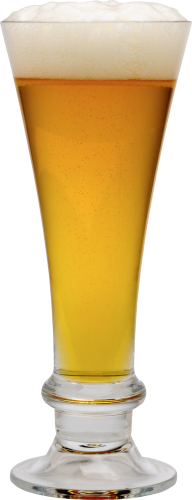 beer on conical glass free png download