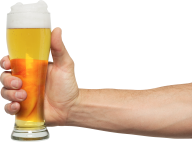 beer on hand hold  glass free png download