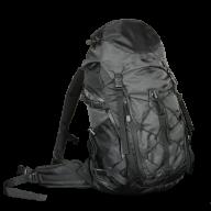 black fancy backpack free png download