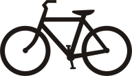 black logo bicycle free clipart download