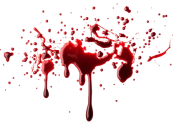 blood sparyed on glass  free png download