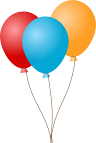 Blue and Red Balloon Png