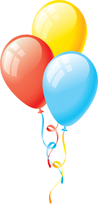 Blue and Yellow Balloon Png