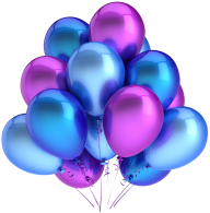 Blue Balloons Png