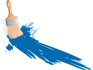 blue paint brush free clipart download
