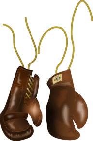 brown threaded boxing gloves free png download