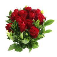 bunch of red rose with leaves free png download (2)
