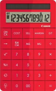 Calculator Png image in Red color