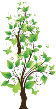 Clipart Butterfly Tree