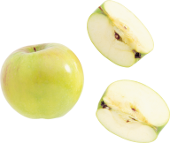 Cutted Green Apple Png