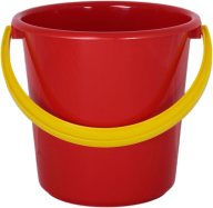 DARK RED BUCKET FREE PNG DOWNLOAD