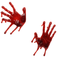 double fingered flowing blood free png download