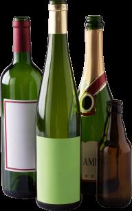empty wine bottel free png download