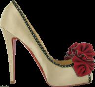 fancy red flowered heelshoe free png download