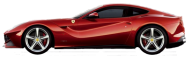 Ferrari Side view Red Image
