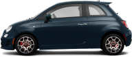 Fiat Blue Png Image Side view