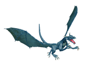 flying dragon 3d art