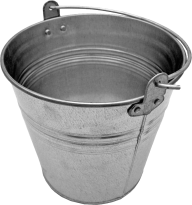full silver bucket free png download