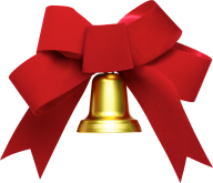 golden bell red ribbon free png download