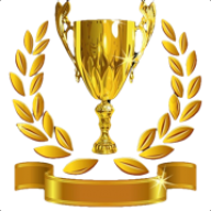 Golden Cup Png Trophy With Golden Leaves Icon