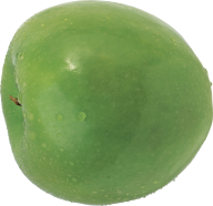 Green Apple With Rain Drops Png