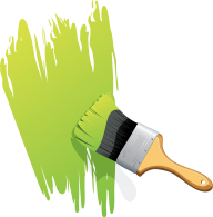 green paint brush free clipart download