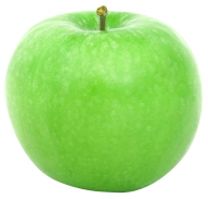 Green Round Apple Side View