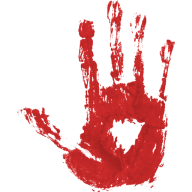 hand print blood free png download