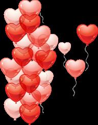 Heart Shape Ballons for Web Designing