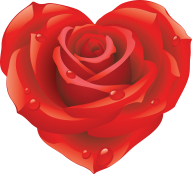 heart shaped red rose clipart free png download