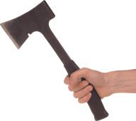 Iron Axe In Hand Png