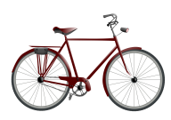 meroon bicycle free clipart download