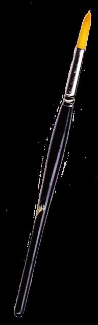 narrow black handle brush free png download