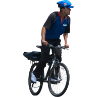 office boy bicycle free png image download