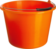 ORANGE BUCKET FREE PNG DOWNLOAD