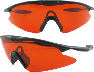 orange sunglass air tight glass