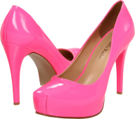 Pink Women png Shoe with high heals