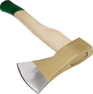 Png Wooden Axe with Green Handle