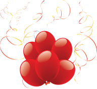 Red Balloon With Ribbons Png