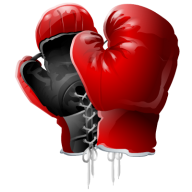 red black boxing gloves free png download