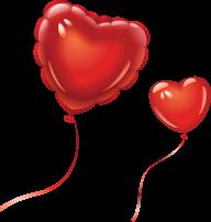 Red Heart Shape Balloon Clipart